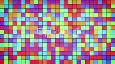 glowing bright colorful glass mosaic loop