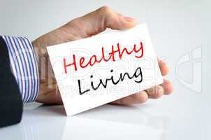 Healthy living text concept
