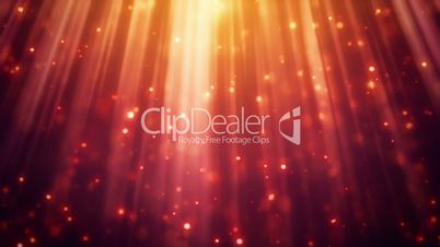 festive glitter particles in light rays loopable background
