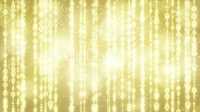 bright golden christmas beads seamless loop
