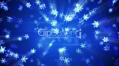 glowing falling snowflakes seamless loop winter background