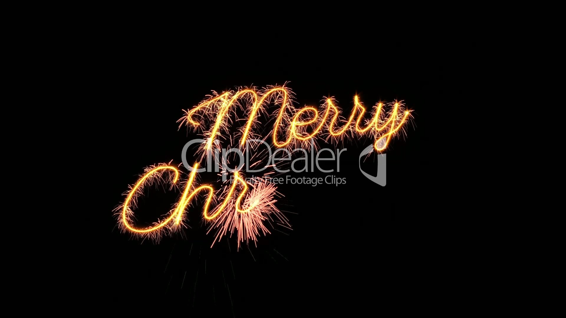 Sparkler text animation merry christmas new year greeting loopable merry christmas kristyandbryce Choice Image
