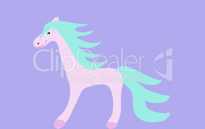 Pink horse funny children fairytale