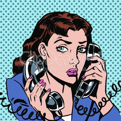Wednesday girl on two phones running bond Secretary office Manager