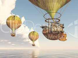 Fantasie Heißluftballons
