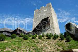 Keep tower of Celje medieval castle in Slovenia