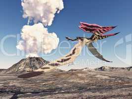 Vulkan und der Flugsaurier Thalassodromeus