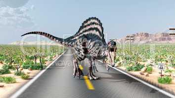 Spinosaurus auf der Route 66