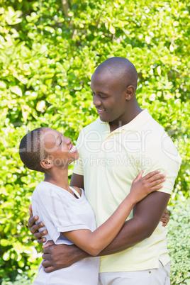 Happy smiling couple to hug