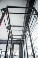 Low angle view of parallel bars