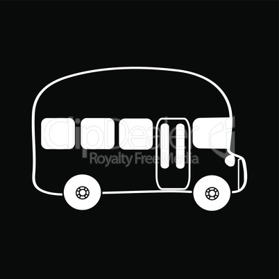 Symbol bus black background