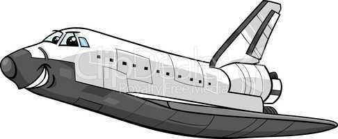 space shuttle cartoon illustration