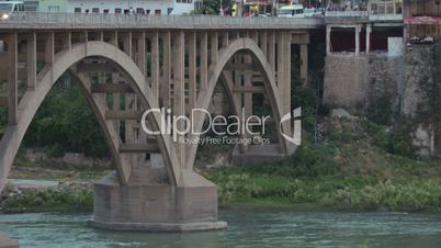 Remains of ancient buildings in Hasankeyf, Turkey