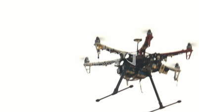 six engine drone with a camera