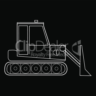 Dozer tractor construction equipment and road machinery