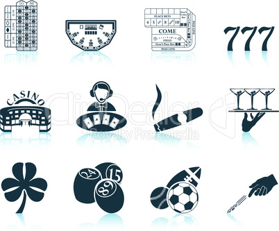 Set of gambling icons