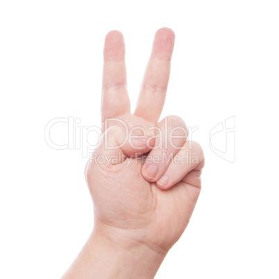 V hand sign