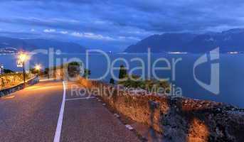 Road in Lavaux region, Vaud, Switzerland