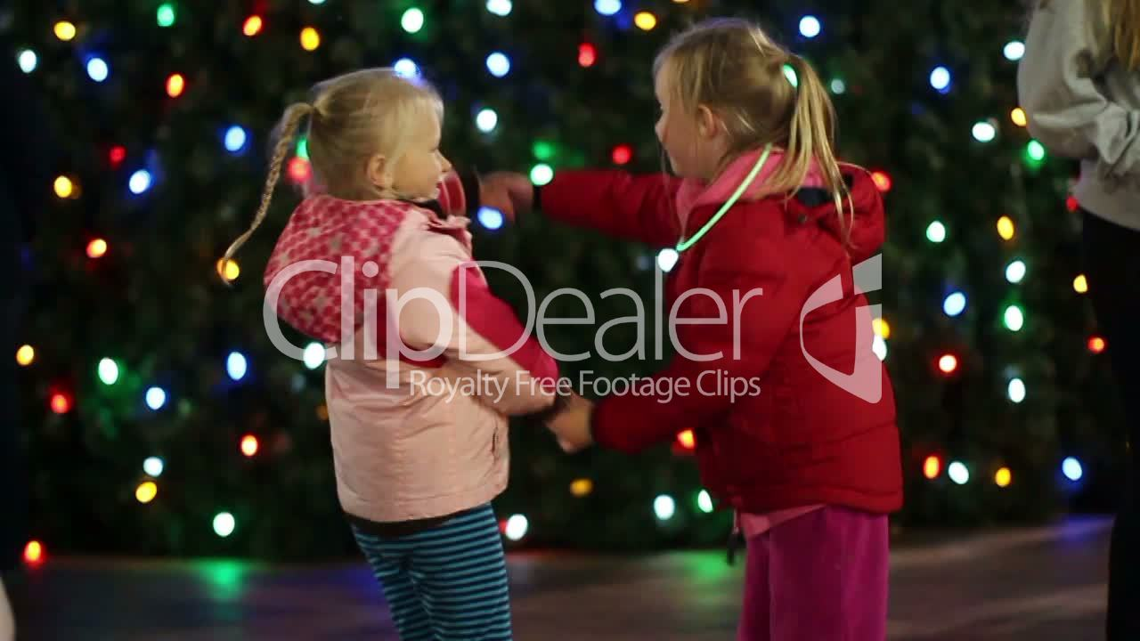Girls Dancing at Christmas 2: Royalty-free video and stock footage