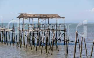 Very Old Dilapidated Pier in Fisherman Village