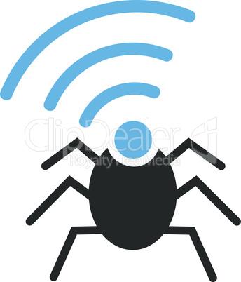 Bicolor Blue-Gray--radio spy bug.eps