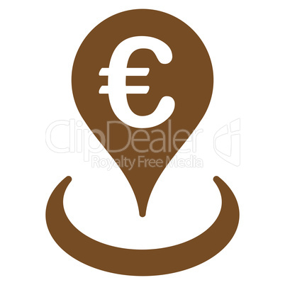 Location icon from BiColor Euro Banking Set