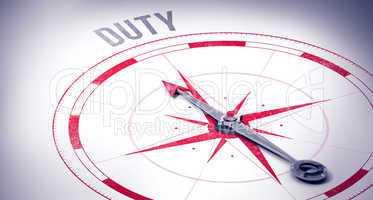 Duty against compass arrow
