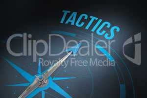 Tactics against grey background