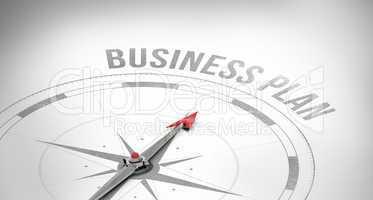 Business plan against compass