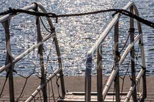 Gangway im Ostseehafen