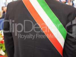 Italian mayor with sash