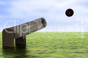 Cannon with projectile