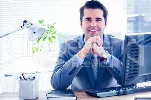 Professional businessman looking at the camera