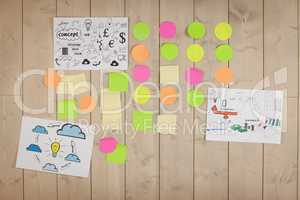 Brainstorm wall in creative office