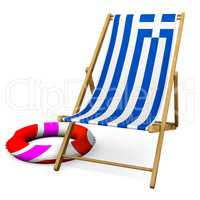 Deckchair with color reference