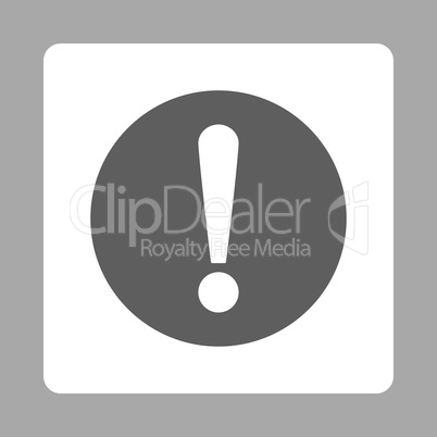 Problem flat dark gray and white colors rounded button