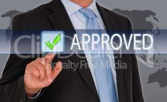 Approved - Businessman with Button