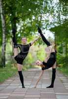 Two Teen Rhythmic Gymnasts