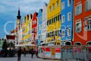 miniatur bunte barockstadt
