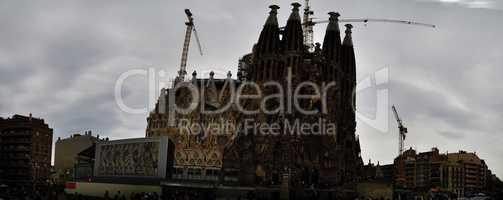 barcelona kathedrale familia panorama