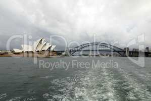 Opernhaus und Harbour Bridge in Sydney, Australien
