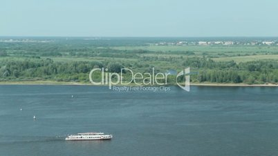 Passenger ship on the river, HD