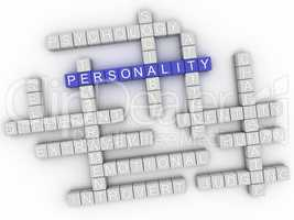 3d image Personality issues concept word cloud background