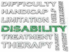 3d image Disability issues concept word cloud background