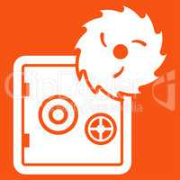 Hacking theft icon from Business Bicolor Set