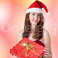 Woman with Christmas