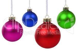 Weihnachtskugeln Weihnachten hängen Freisteller