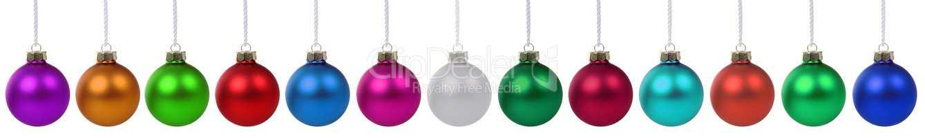 Viele bunte Weihnachtskugeln Weihnachten Freisteller