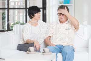 Senior man fever