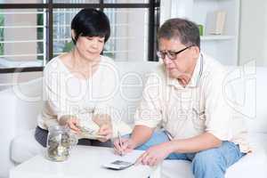 Pension, retiree, saving concept